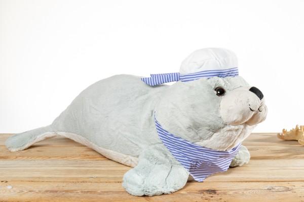 Seehund Plüsch grau groß