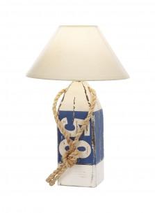Lampe Holzboje 58 weiß blau