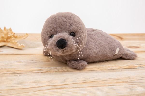 Kuscheltier Robbe grau 30cm