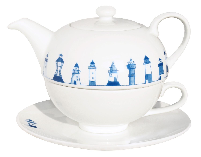 tea for one leuchtturm leuchtturm geschirr porzellan geschirr porzellan maritim. Black Bedroom Furniture Sets. Home Design Ideas