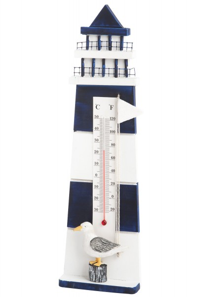thermometer leuchtturm blau mare blau wei deko. Black Bedroom Furniture Sets. Home Design Ideas
