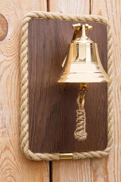 Schiffsglocke Holztafel 10cm