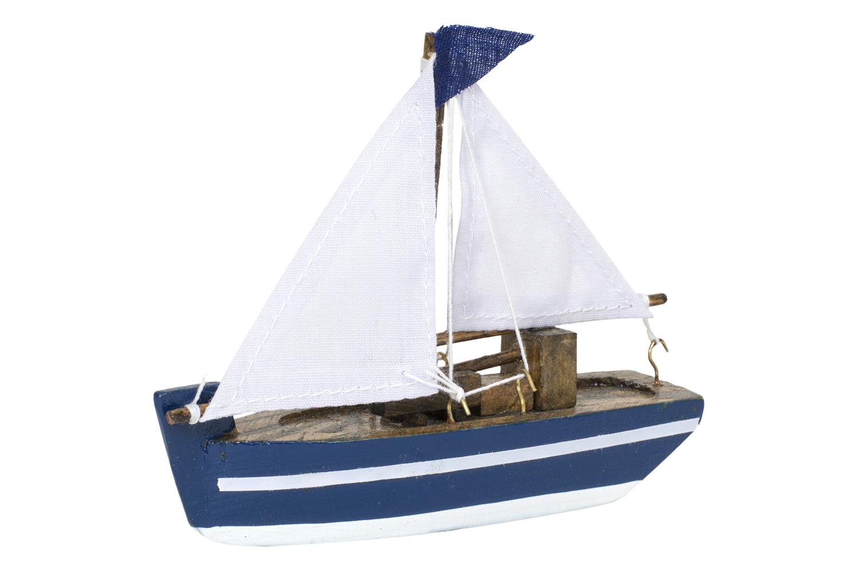 Kleines Segelboot, blau  Bunte Deko Schiffe  Deko Schiffsmodelle ...