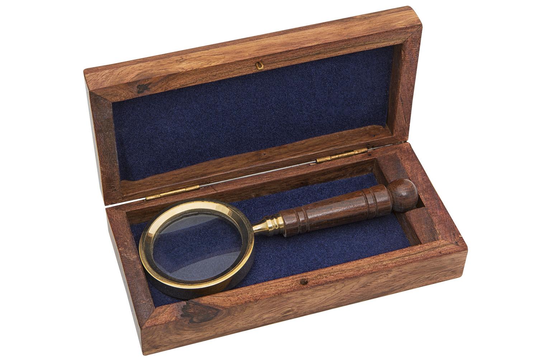 lupe in holzbox 11cm schreibtisch accessoires b ro und arbeiten maritim wohnen mare me. Black Bedroom Furniture Sets. Home Design Ideas