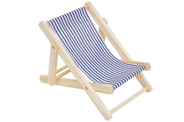 Blau Weiß Deko Liegestuhl 15cm