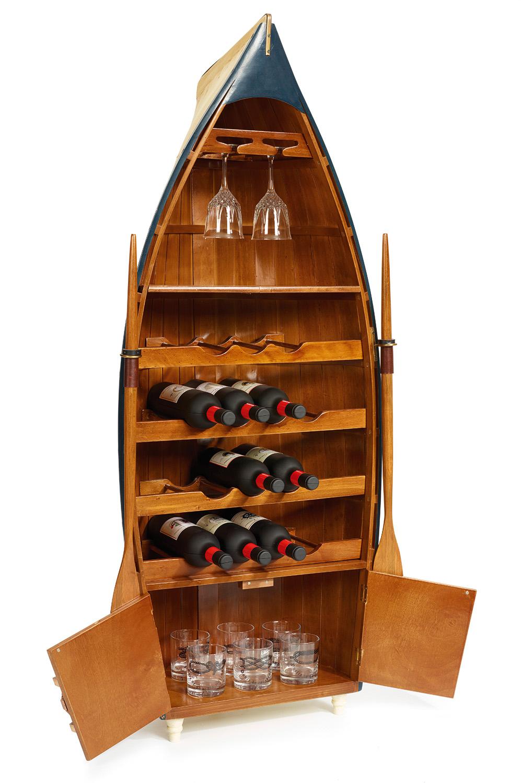 Boot als schrank hausbar mare me maritime dekoration geschenke - Holzpaddel deko ...