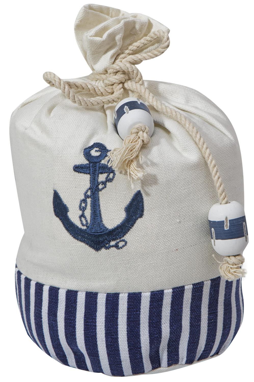 T rstopper wei blau anker maritim wohnen mare me maritime dekoration und geschenke - Holzpaddel deko ...