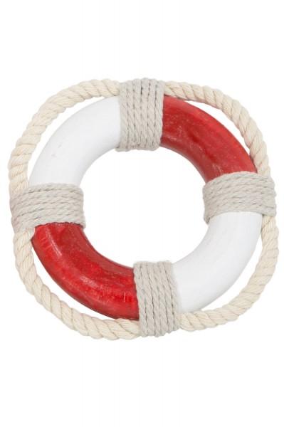 Rettungsring Deko, mini rot weiß