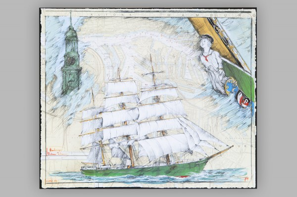 Poster, Rickmer Rickmers, Ole West