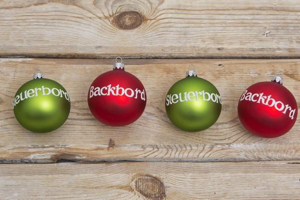 4 maritime weihnachtskugeln rot gr n christbaumschmuck deko nach themen maritim dekorieren - Christbaumschmuck leuchtturm ...