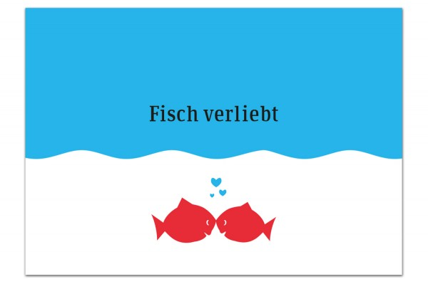 Postkarte von Chatlab Fisch verliebt