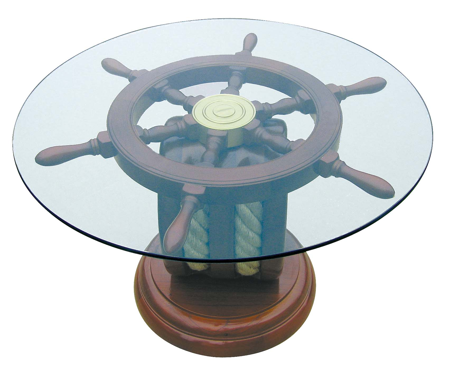 steuerrad tisch holz glas kommode hocker tisch einrichtung maritim wohnen mare me. Black Bedroom Furniture Sets. Home Design Ideas