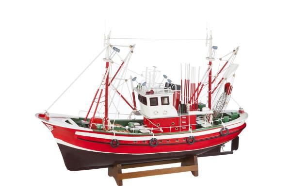 Modell Fischkutter rot braun