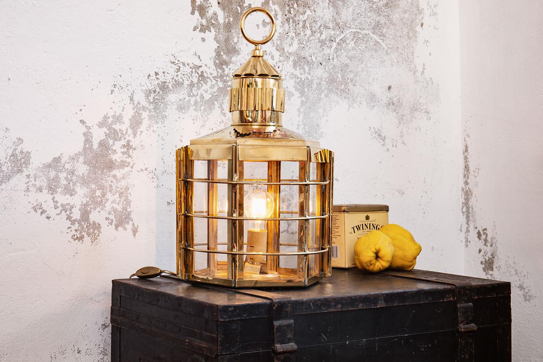 Clipperlampe elektrisch 57cm kaj tenlampen schiffslampen maritime klassiker mare me - Holzpaddel deko ...