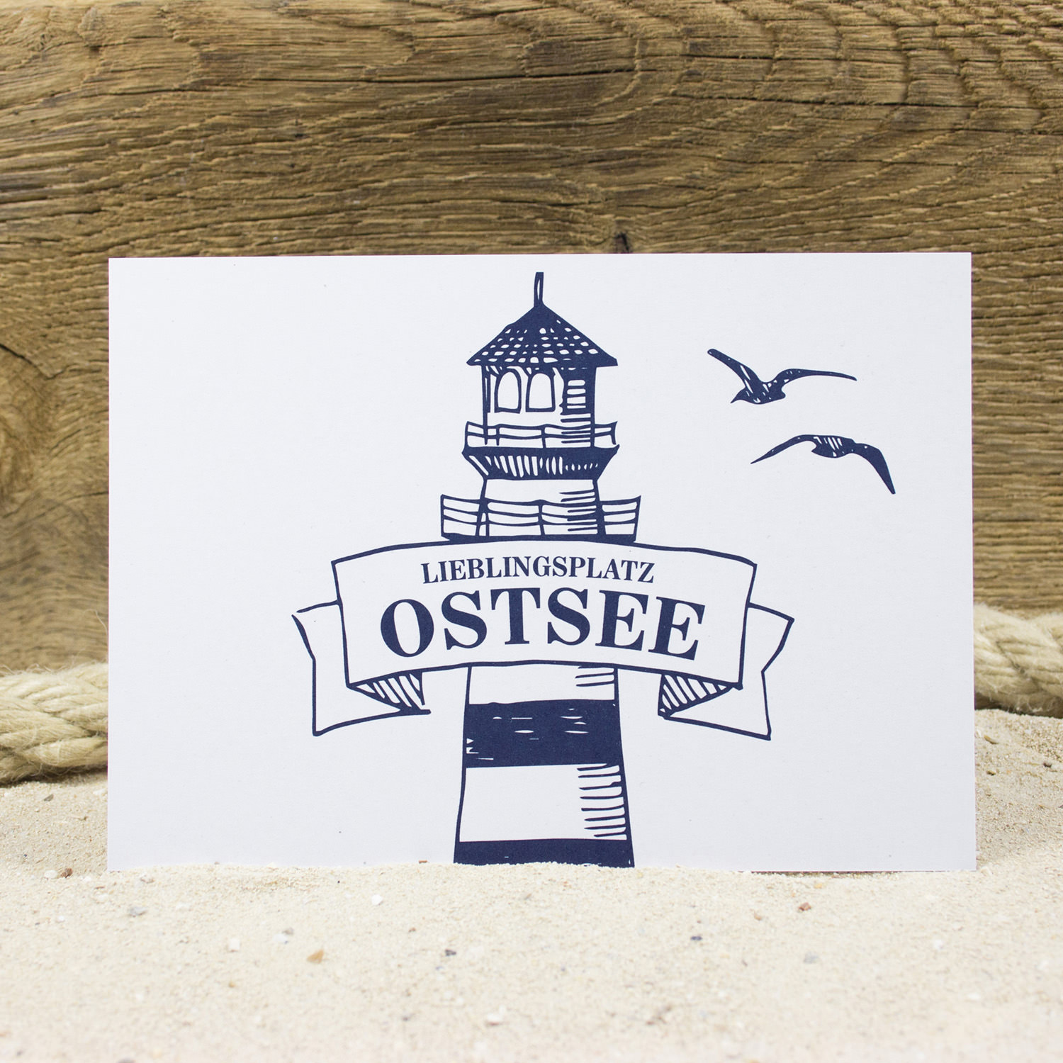 postkarte ostsee postkarten junges design aus hamburg maritim wohnen mare me maritime. Black Bedroom Furniture Sets. Home Design Ideas