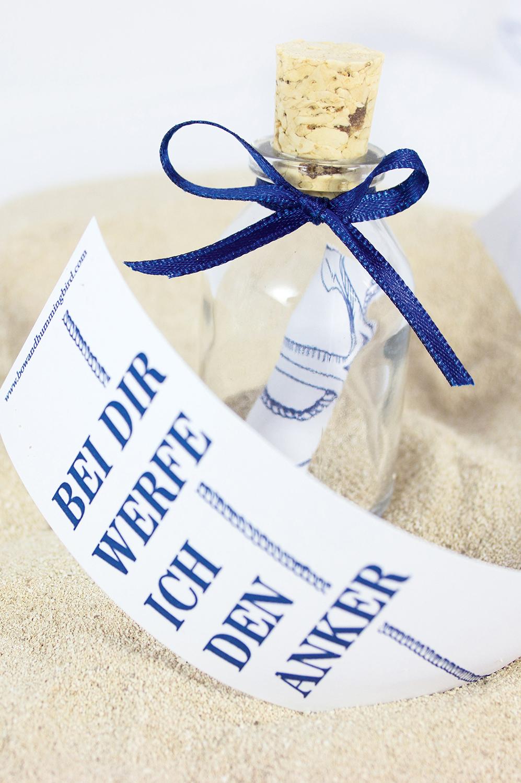 Flaschenpost mit anker kaufen mare me maritime - Holzpaddel deko ...