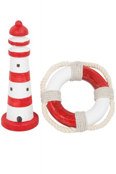 Minirettungsring rot weiß und Leuchtturm