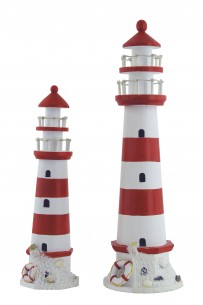 Leuchtturm, rot-weiss