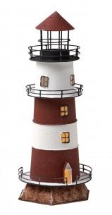 Leuchtturm Lampe rot weiß