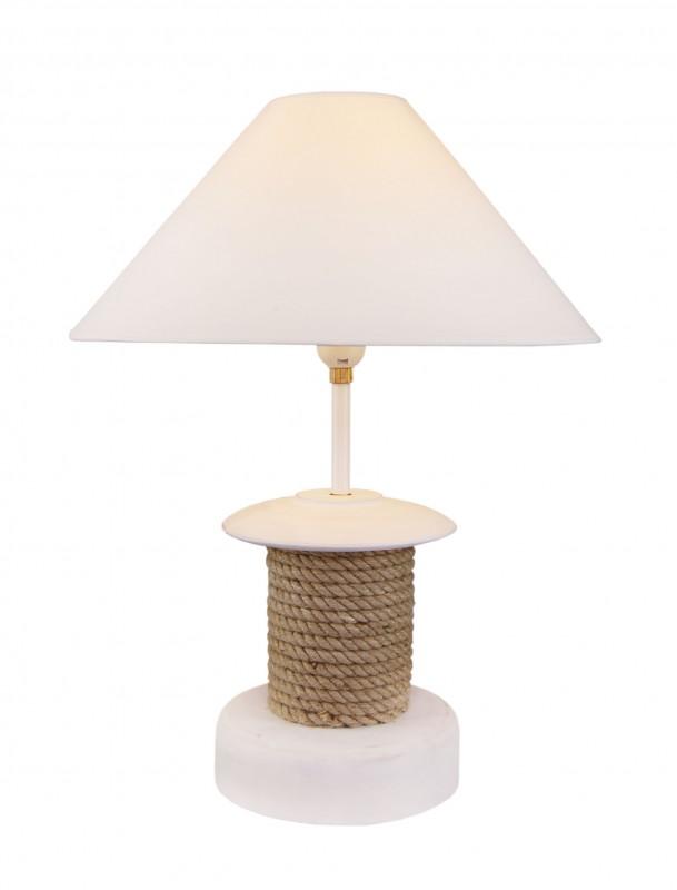lampe tau und wei em lampenschirm online bestellen bei mare me. Black Bedroom Furniture Sets. Home Design Ideas