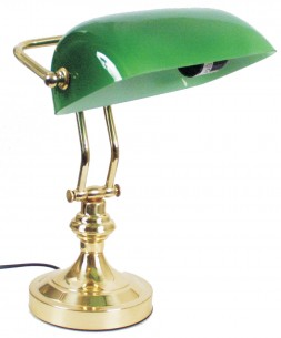 Lampe Bibliothek grün