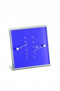 Barigo Edelstahl- Thermo-/Hygrometer, violett