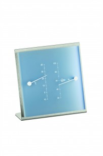 Barigo Edelstahl- Thermo-/Hygrometer, eisblau