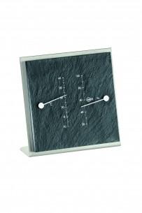Barigo Edelstahl- Thermo-/Hygrometer, schwarz
