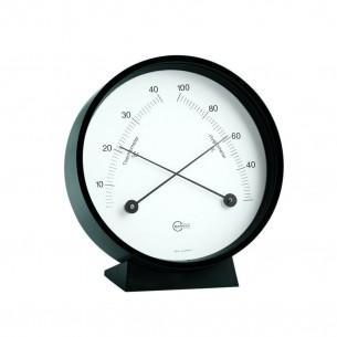 Barigo Kreis- Hygro-/Thermometer, schwarz