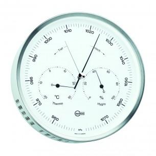 Barigo Edelstahl- Hygro-/Thermo-/Barometer, Ø16.2