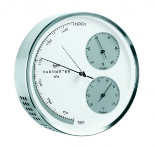 Barigo Edelstahl- Baro-/Thermo-/Hygrometer, Ø16.2