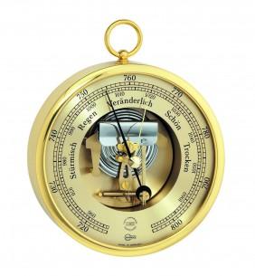 Barigo Messing- Barometer, Ø13cm