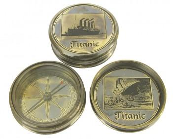 Schwerer Kompass Titanic, Ø6cm