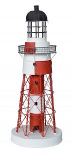 Blech Leuchtturm rot/weiß