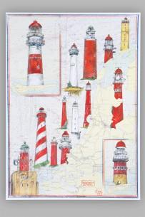 Kunstdruck Ole West, Leuchtturm Niederlande