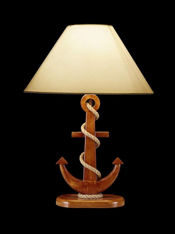 lampe anker holz natur online bestellen bei mare me. Black Bedroom Furniture Sets. Home Design Ideas